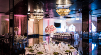 wedding reception setup in noor's sofia banquet hall pasadena