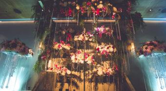 vertical garden wedding backdrop