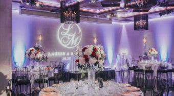 wedding reception setup in the ella ballroom at noor los angeles