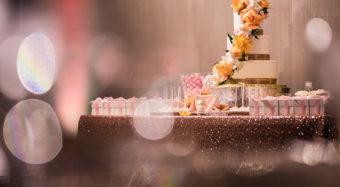 wedding cake with bokeh effect noor wedding reception