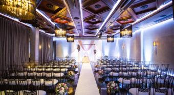 wedding ceremony in the sofia ballroom banquet hall