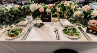 sweetheart table in the sofia banquet hall at noor