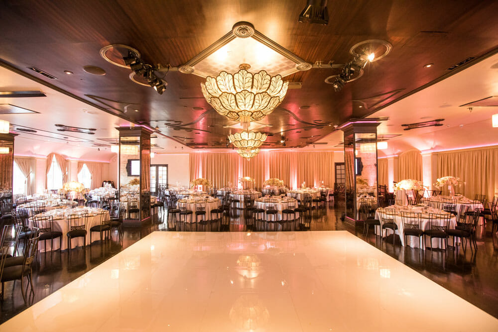 wedding reception setup in noors sofia ballroom