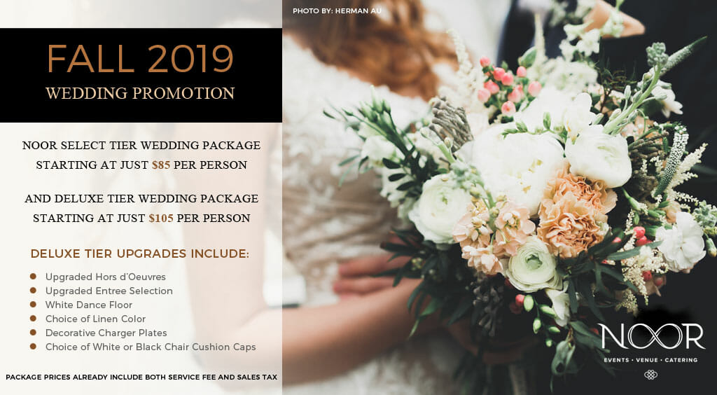 wedding packages and wedding promotions details noor los angeles