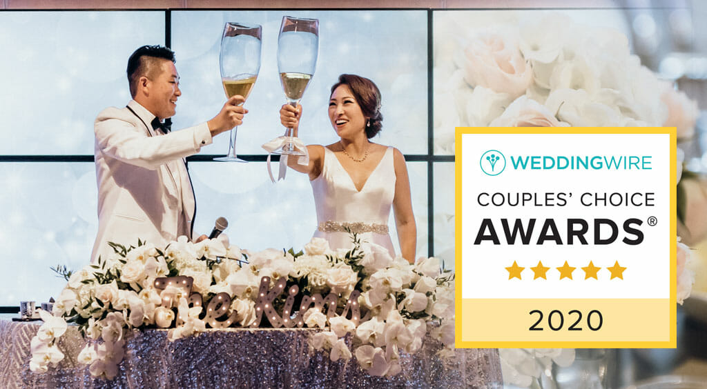 wedding wire couples choice event venues award with wedding couple toasting giant glasses of champagne