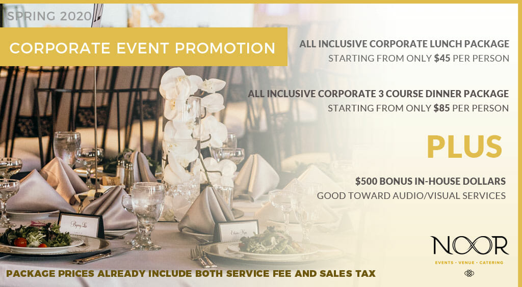 corporate promotion details at NOOR los angeles corporate venue