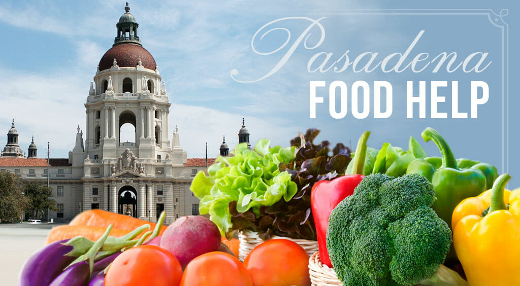 vegetables with pasadena city hall in the background