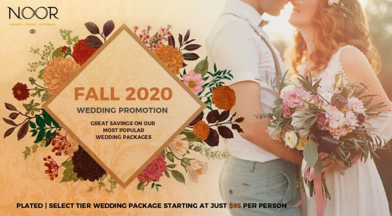fall 2020 wedding promotion